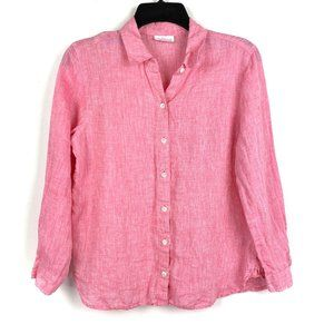 J. Jill 100% Linen Button Up Shirt Long Sleeve